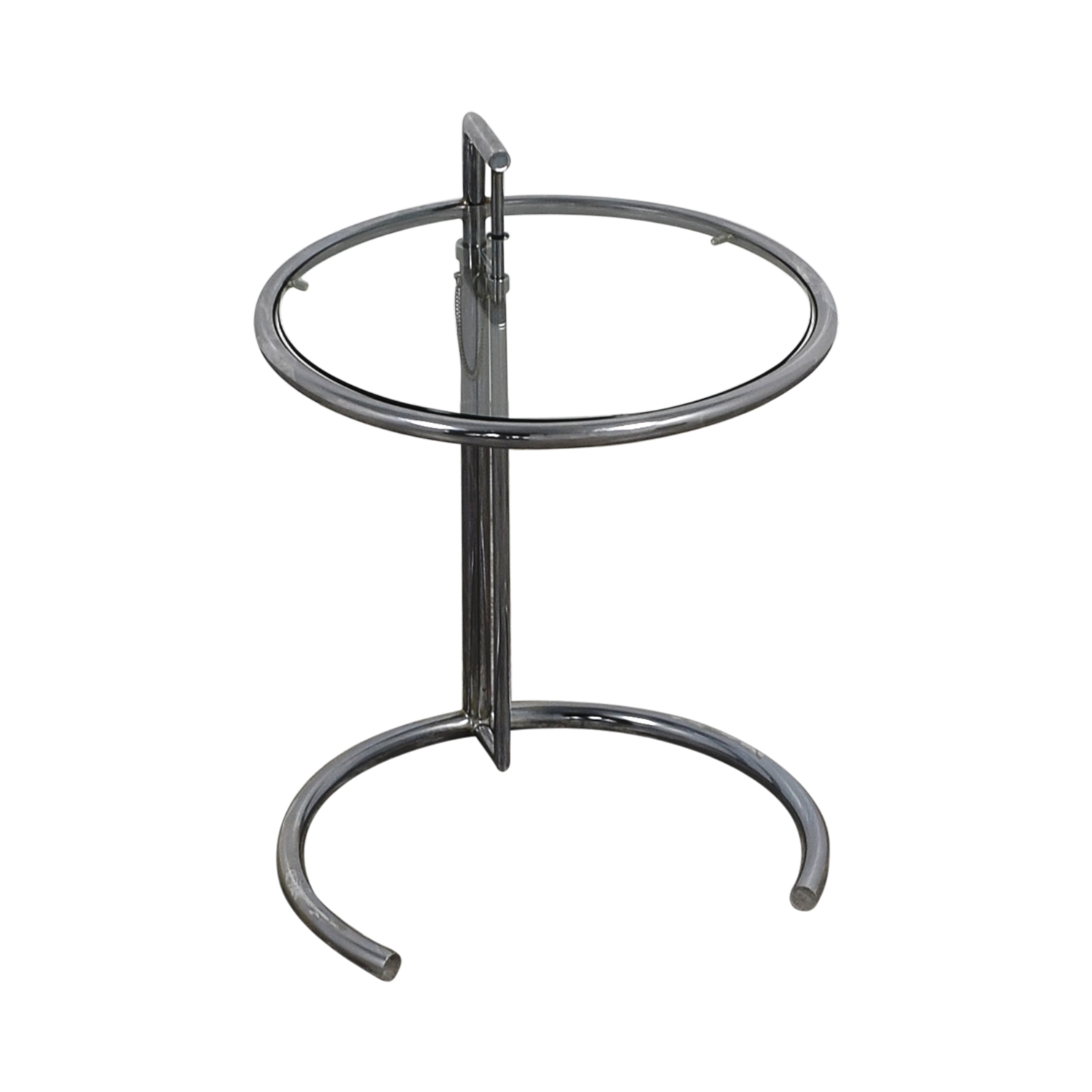 Eileen Gray Eileen Gray Round Glass and Metal Side Table discount
