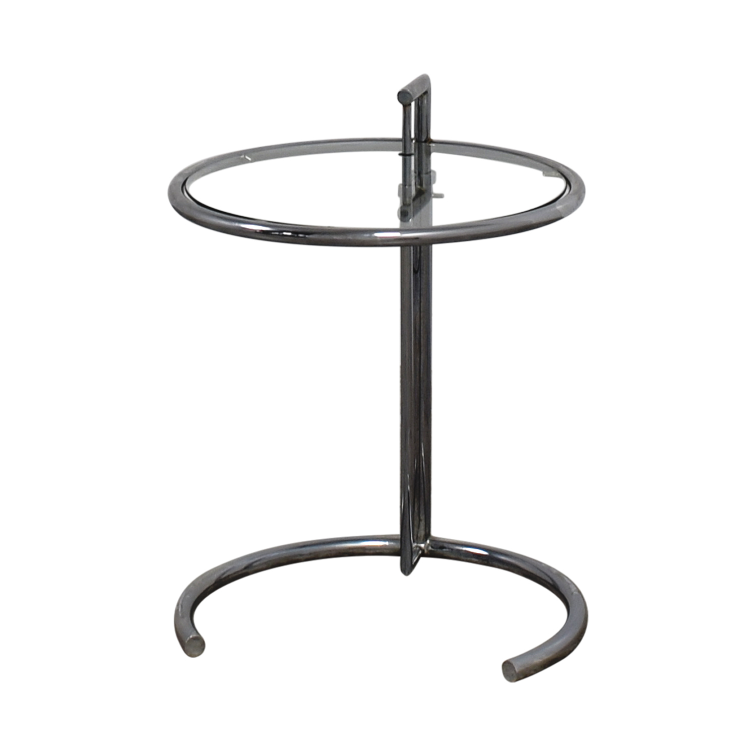 shop Eileen Gray Round Glass and Metal Side Table Eileen Gray End Tables