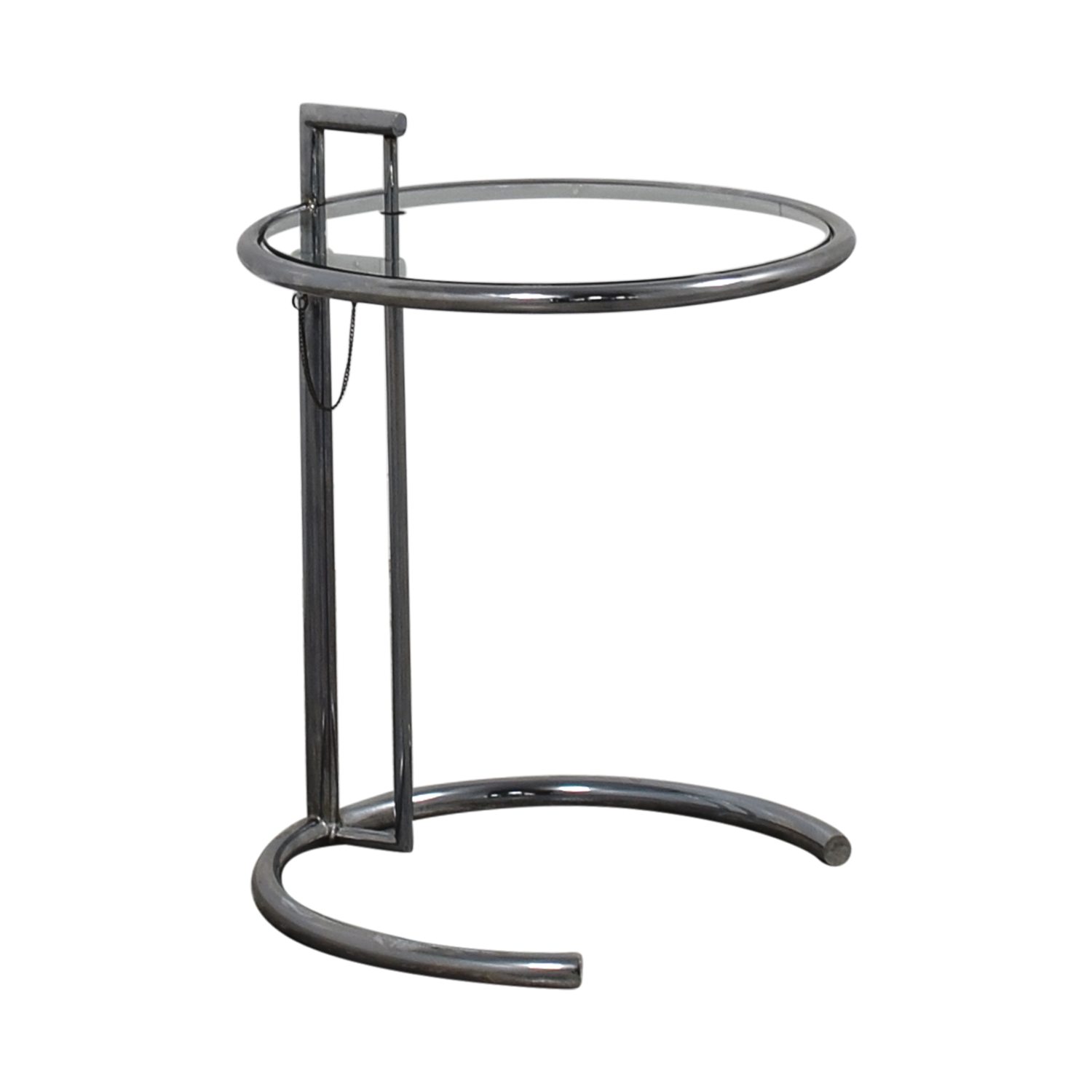 86 off eileen gray eileen gray round glass and metal side table tables. Black Bedroom Furniture Sets. Home Design Ideas