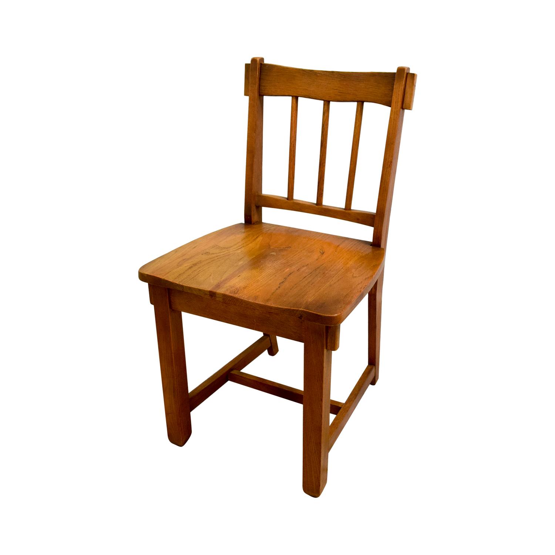 Vintage Oak Desk with Chair Light Brown