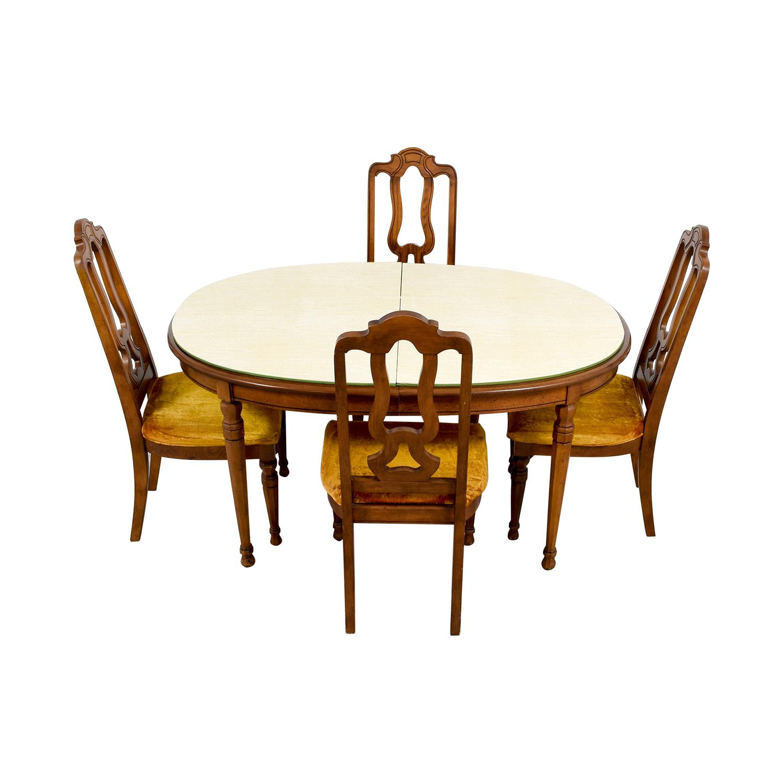 Off bernhardt vintage dining set with