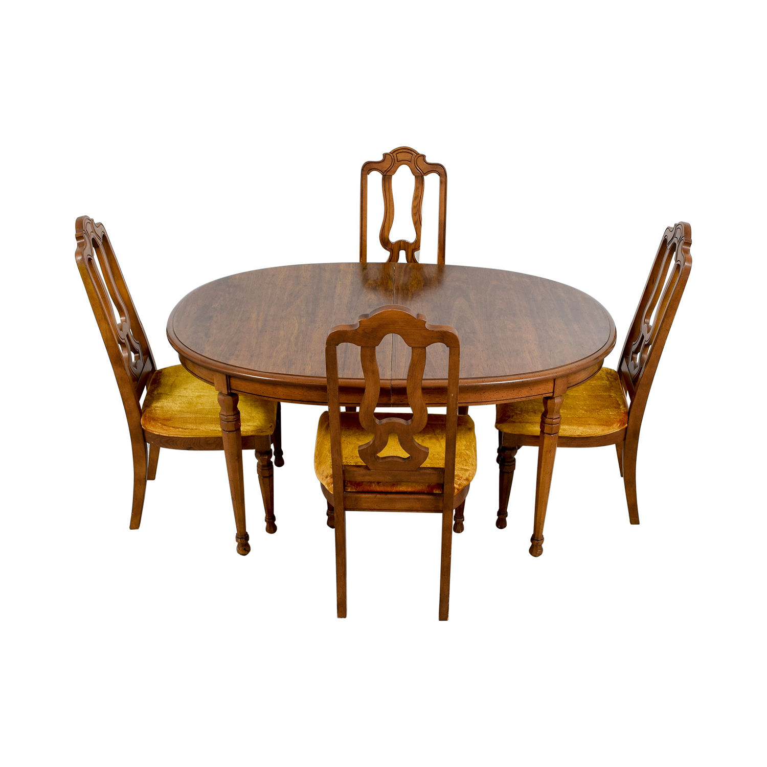 ... Bernhardt Bernhardt Vintage Dining Set with Extension Leaf and Chairs for sale ...  sc 1 st  Furnishare : leaf chairs - Cheerinfomania.Com