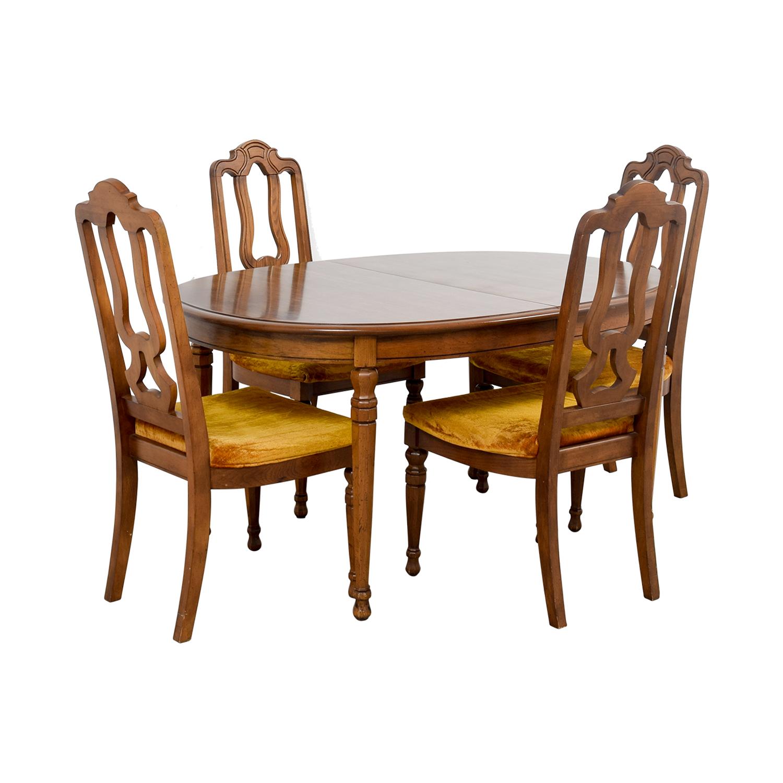 ... Shop Bernhardt Vintage Dining Set With Extension Leaf And Chairs  Bernhardt ...
