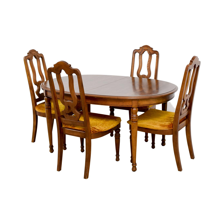 90 Off Bernhardt Bernhardt Vintage Dining Set With