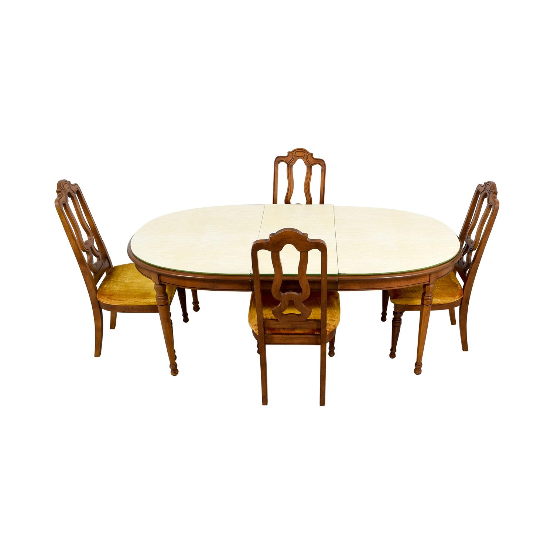 90 off bernhardt bernhardt vintage dining set with for Bernhardt furniture for sale