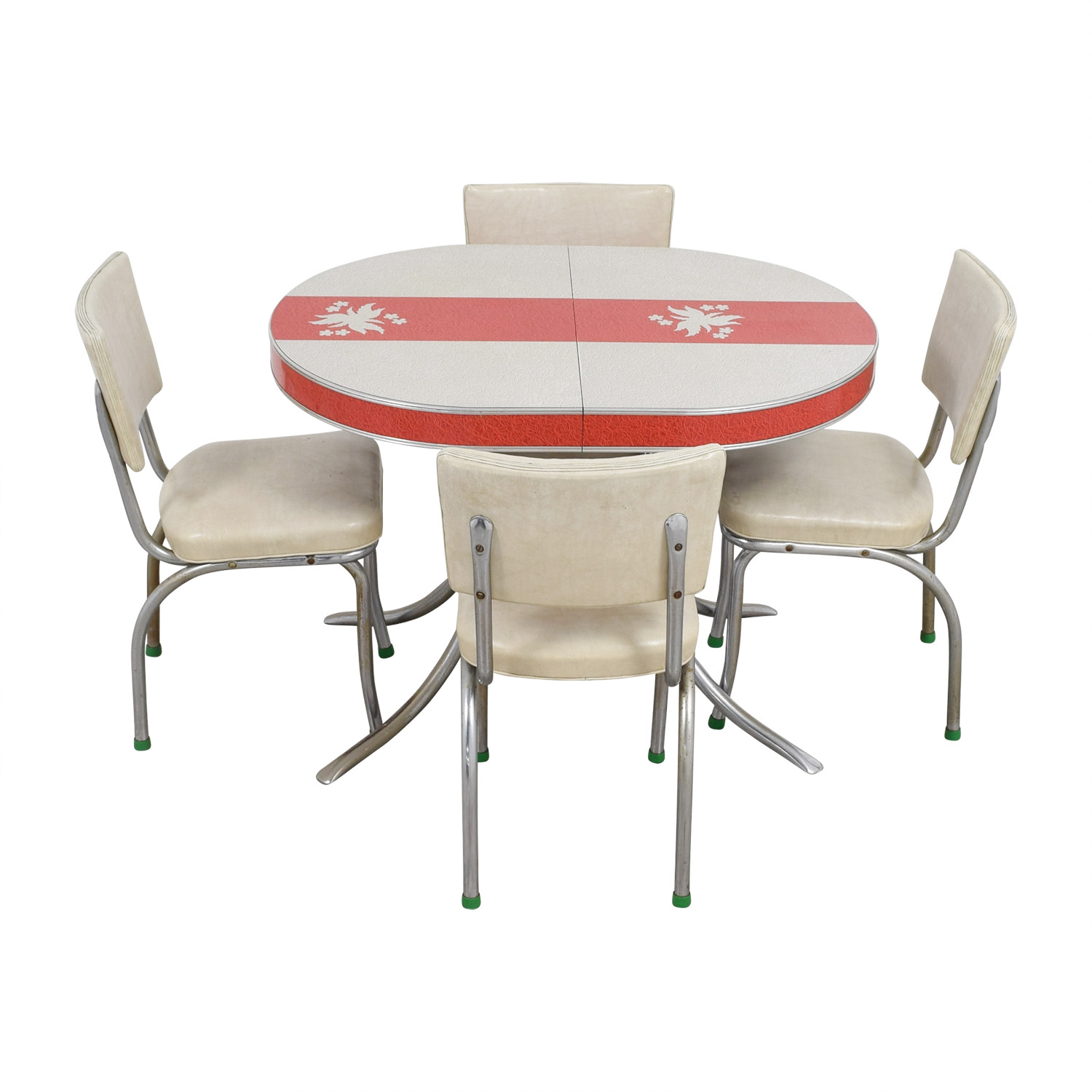 buy Vintage Extendable Formica Top Aluminum Kitchen Table and Chairs online