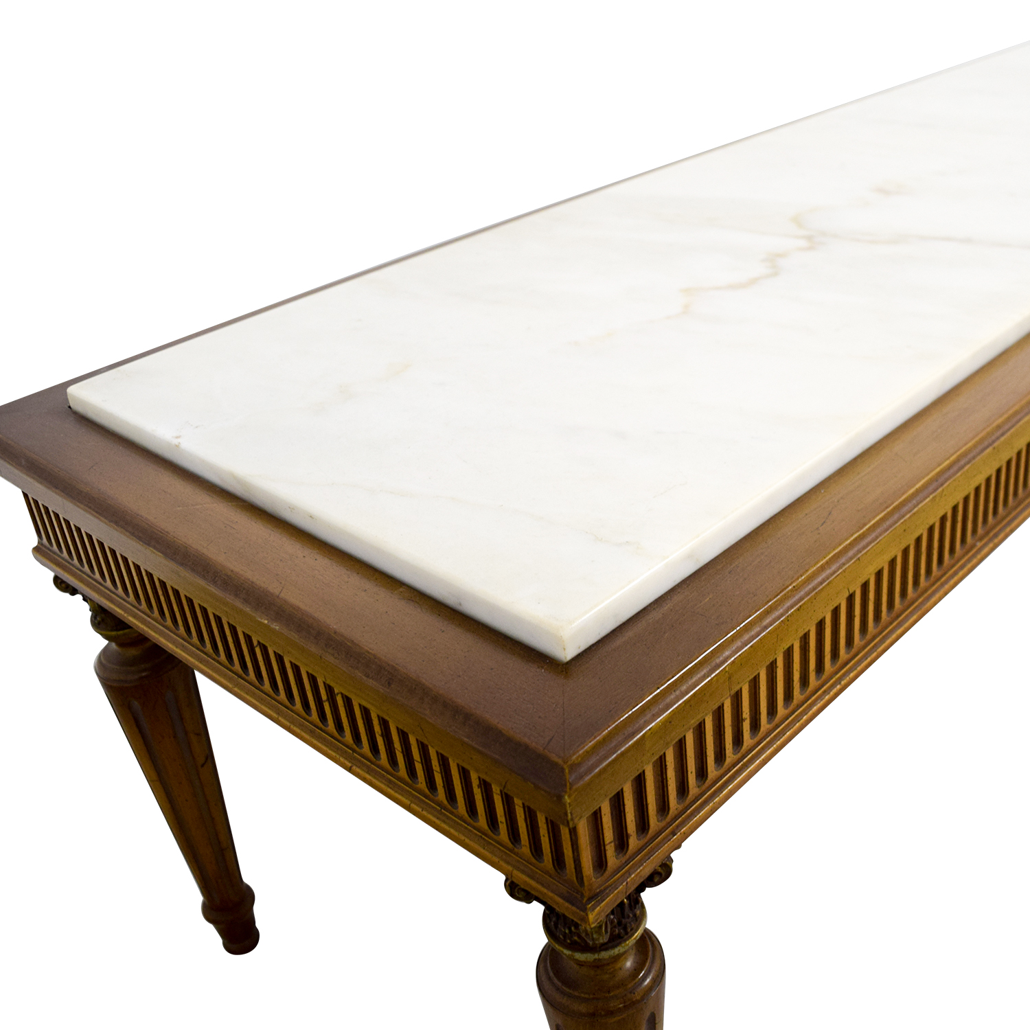 Vintage Marble Topped French Provincial Coffee Table discount