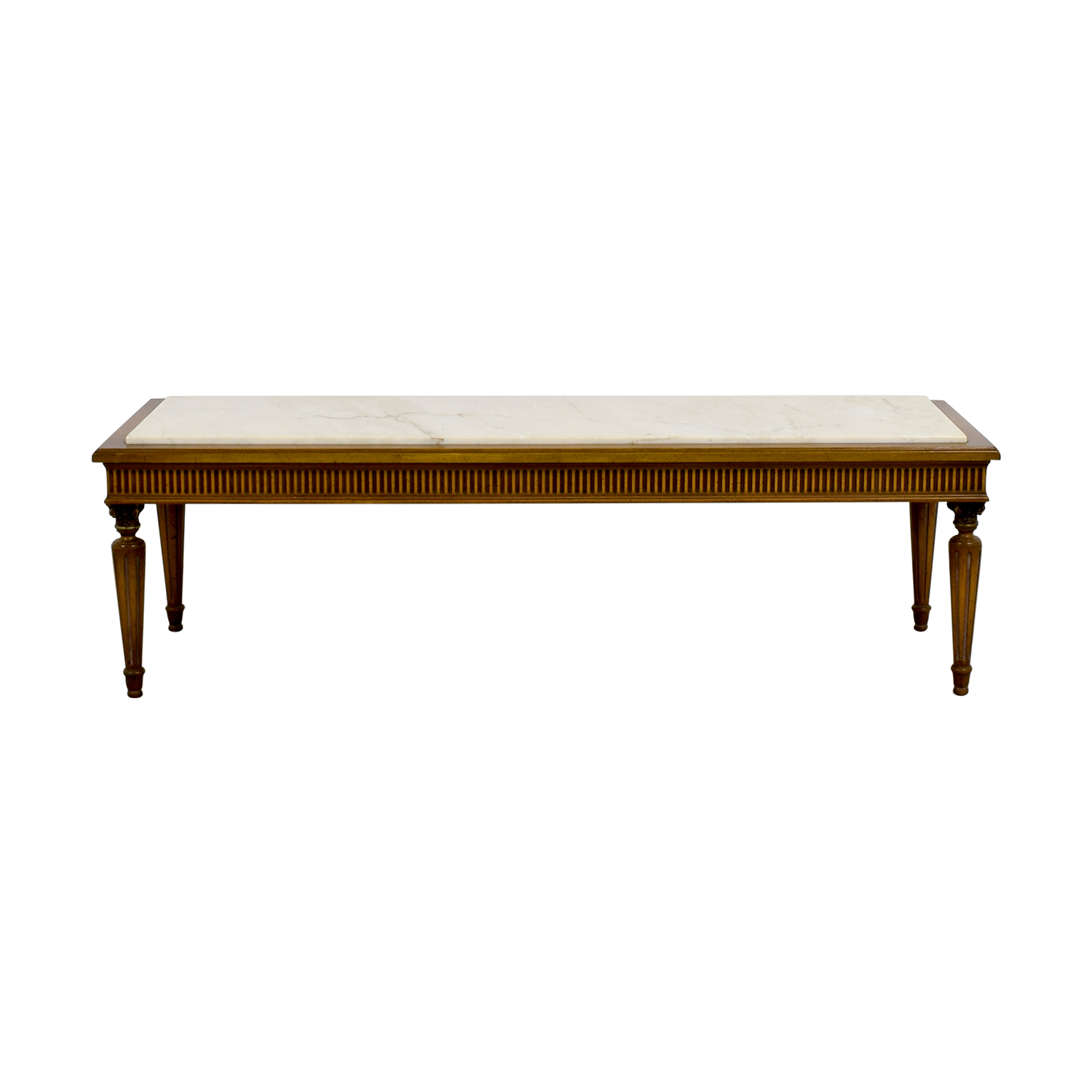 Vintage Marble Topped French Provincial Coffee Table Coupon ...