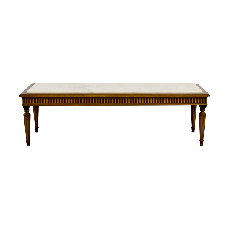 shop  Vintage Marble Topped French Provincial Coffee Table online