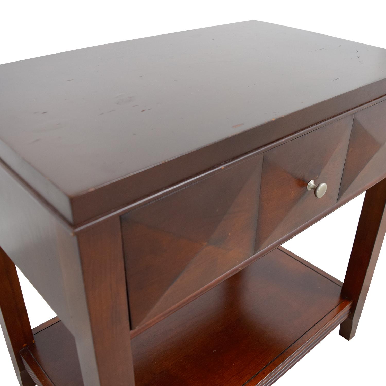 Raymour & Flanigan Espresso Single-Drawer Nightstand / Tables