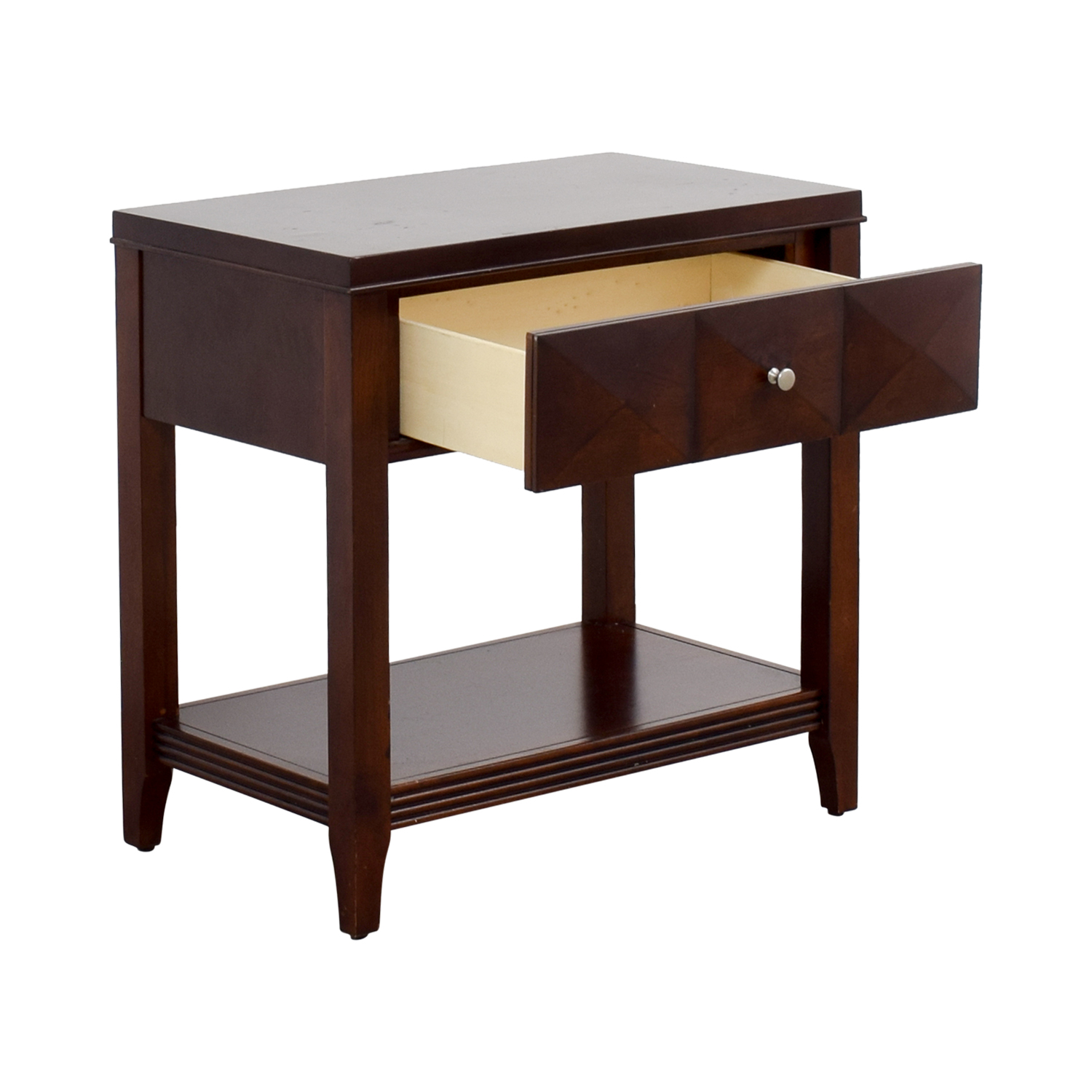Raymour & Flanigan Raymour & Flanigan Espresso Single-Drawer Nightstand End Tables
