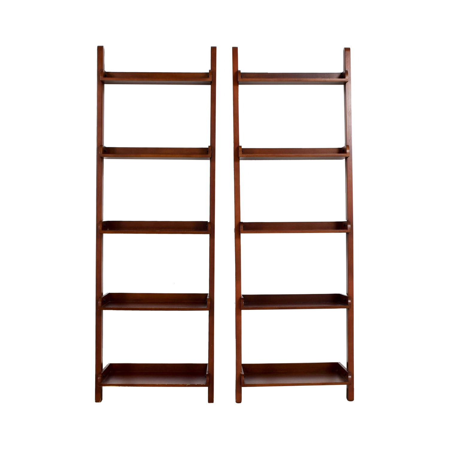 shop Espresso Wood Leaning Bookshelves