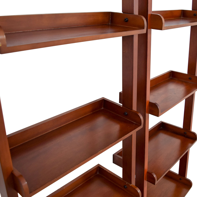 buy Espresso Wood Leaning Bookshelves online