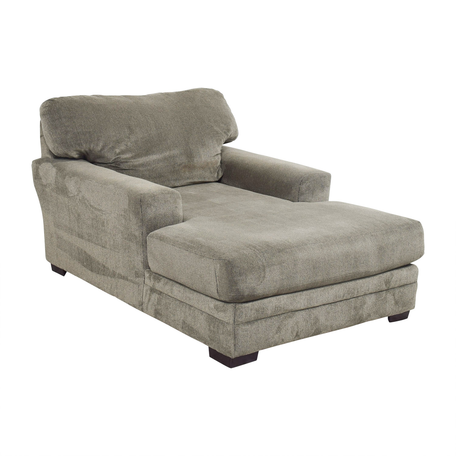 83 Off Bob S Furniture Bob S Furniture Grey Chaise