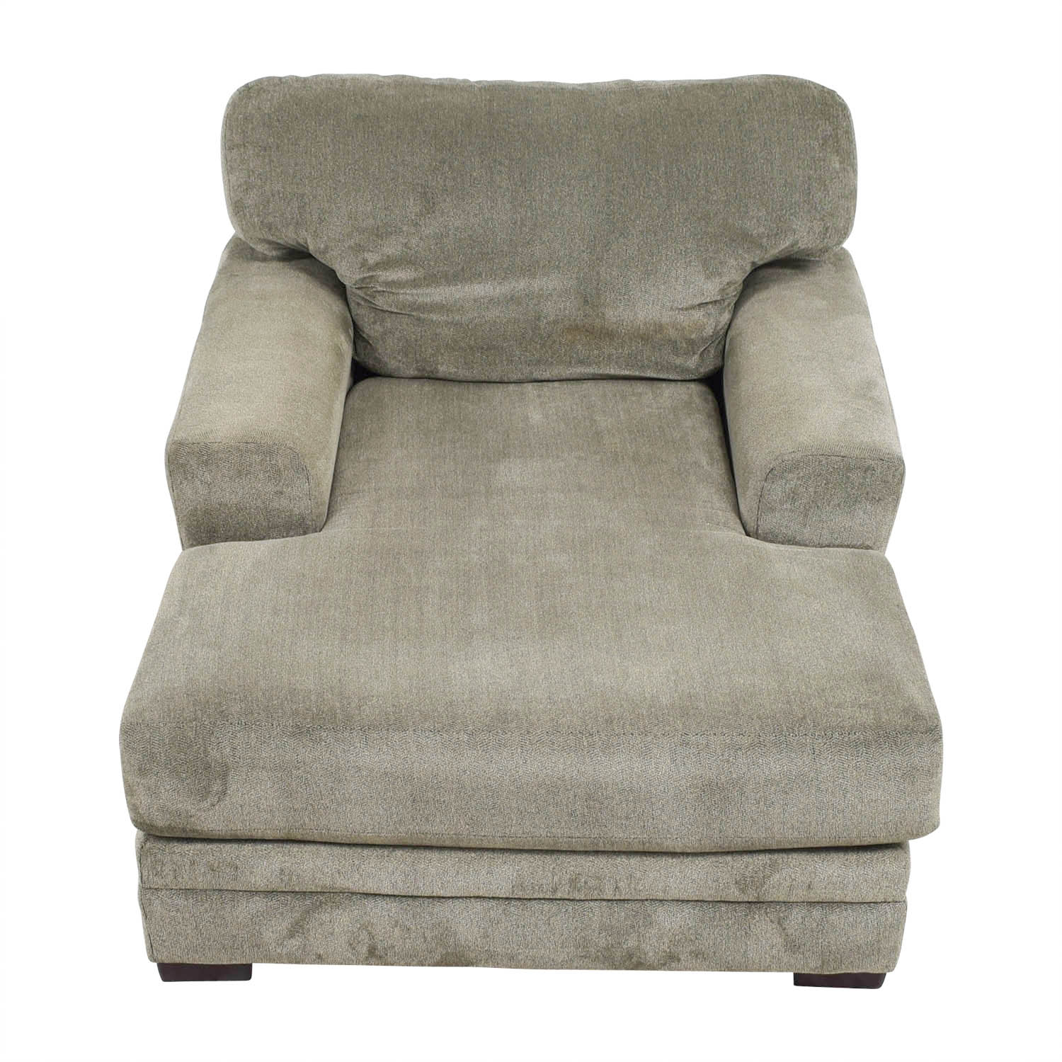 shop Bobs Furniture Grey Chaise Lounge Bobs Furniture