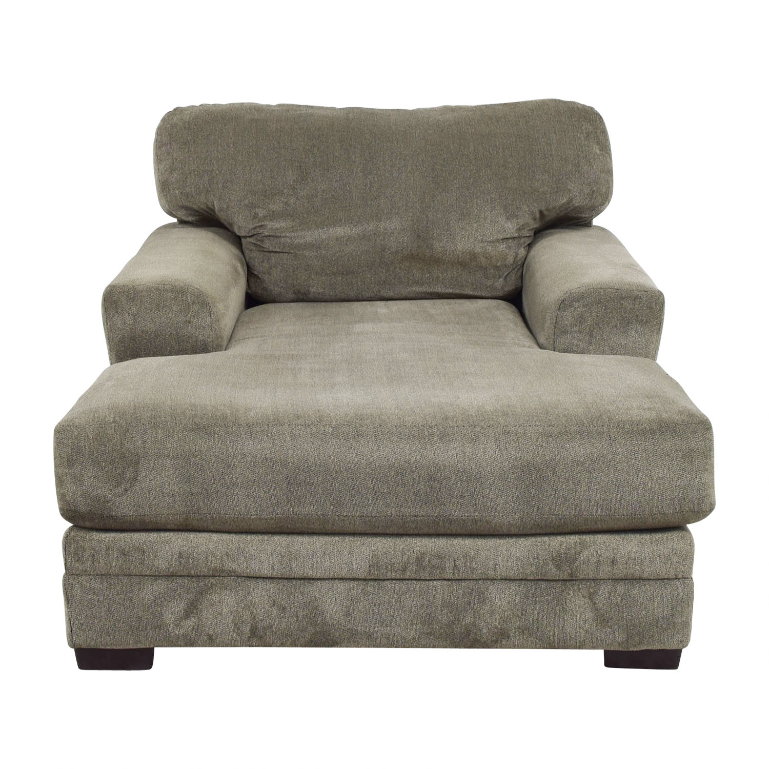 Bobs Furniture Bobs Furniture Grey Chaise Lounge on sale