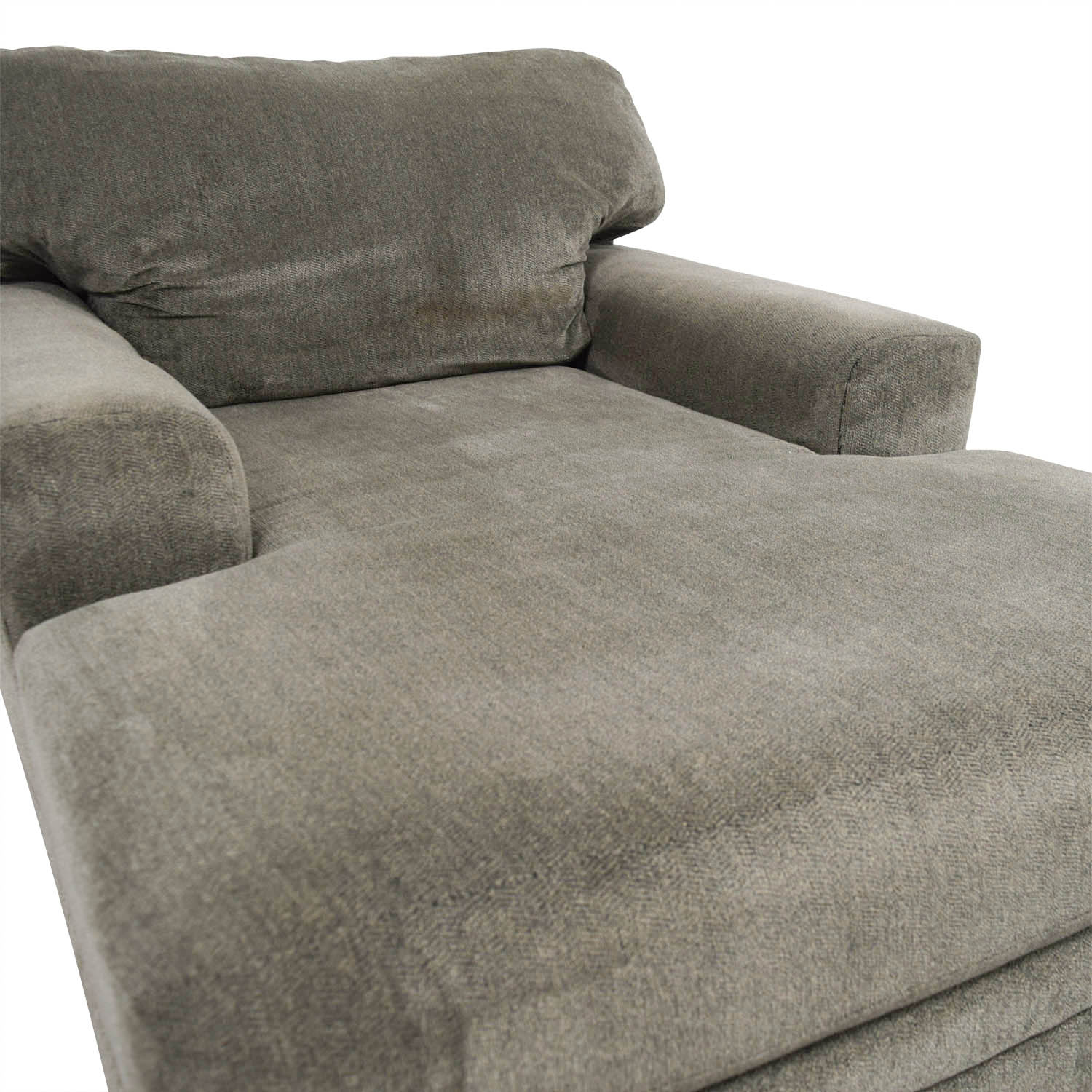 Bobs Furniture Grey Chaise Lounge sale