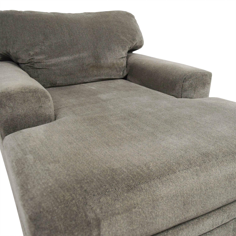 83 Off Bob S Furniture Bob S Furniture Grey Chaise