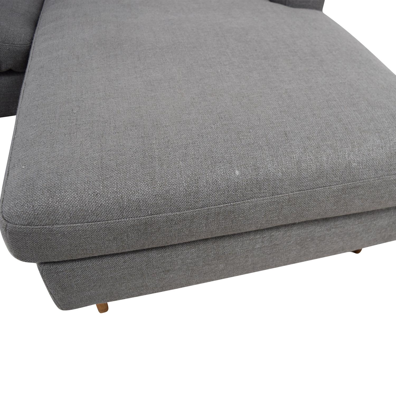 Interior Define Interior Define Custom Grey Loveseat with Chaise used