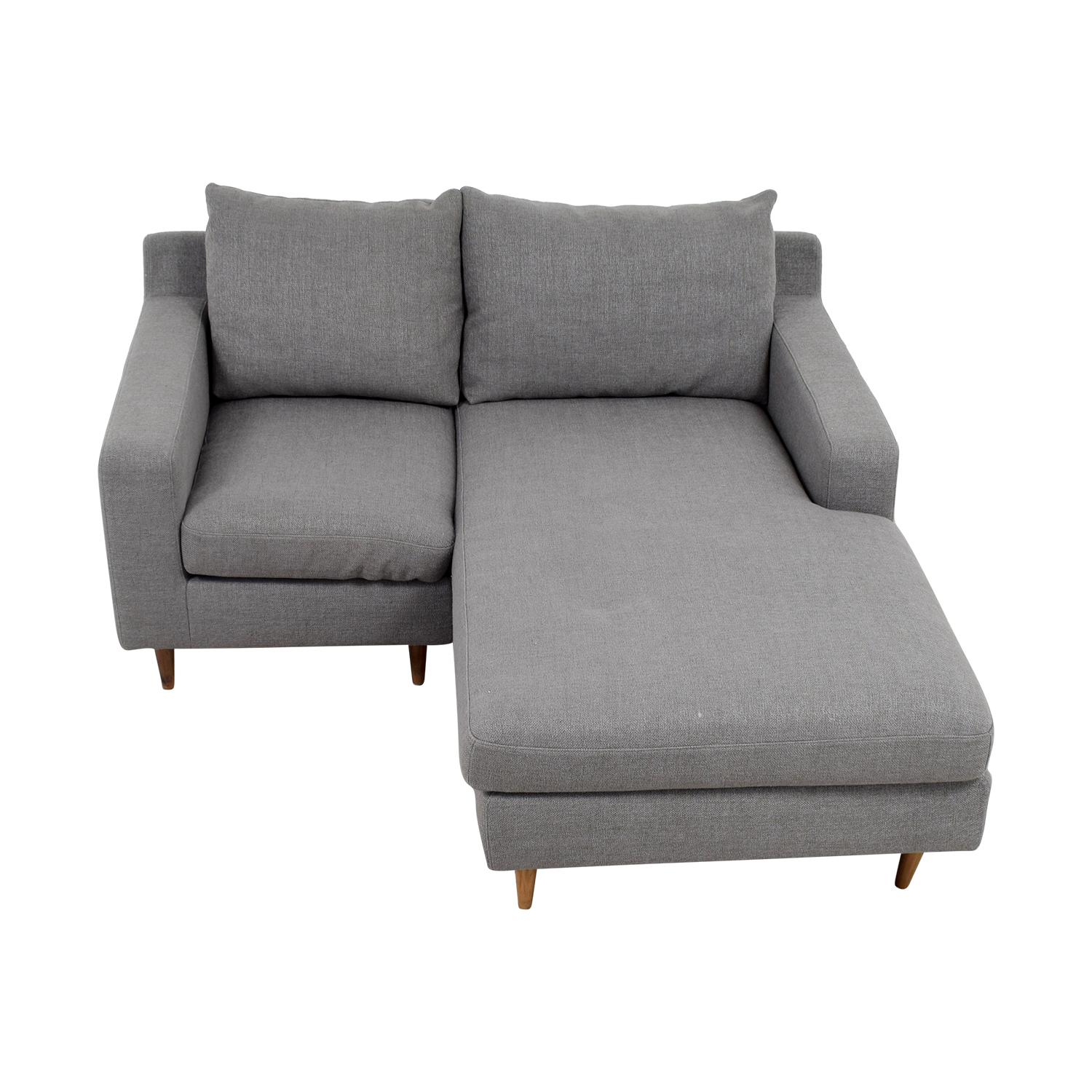 80 off interior define interior define custom grey loveseat with chaise sofas Loveseat chaise sectional