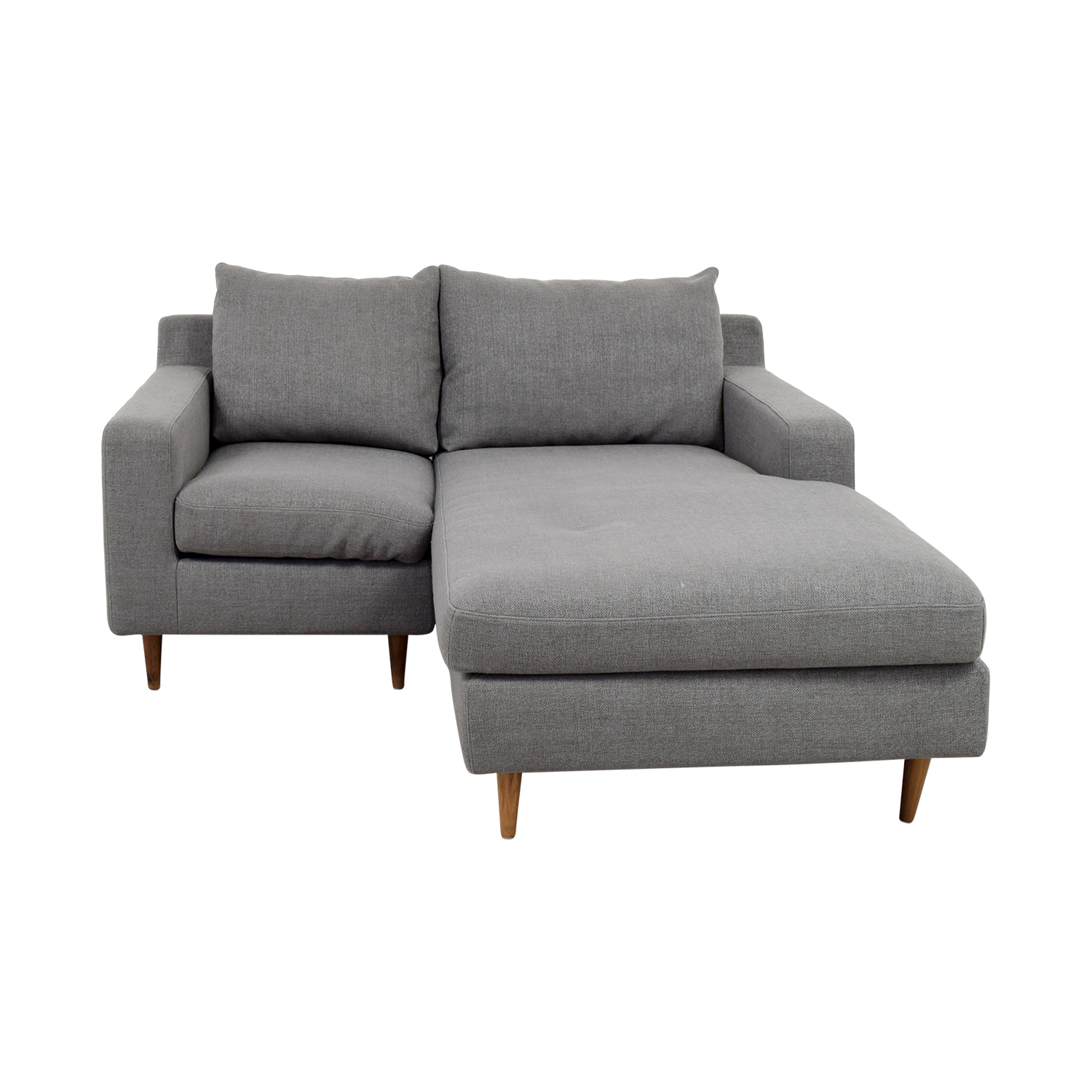 Interior Define Custom Grey Loveseat With Chaise / Sectionals ...