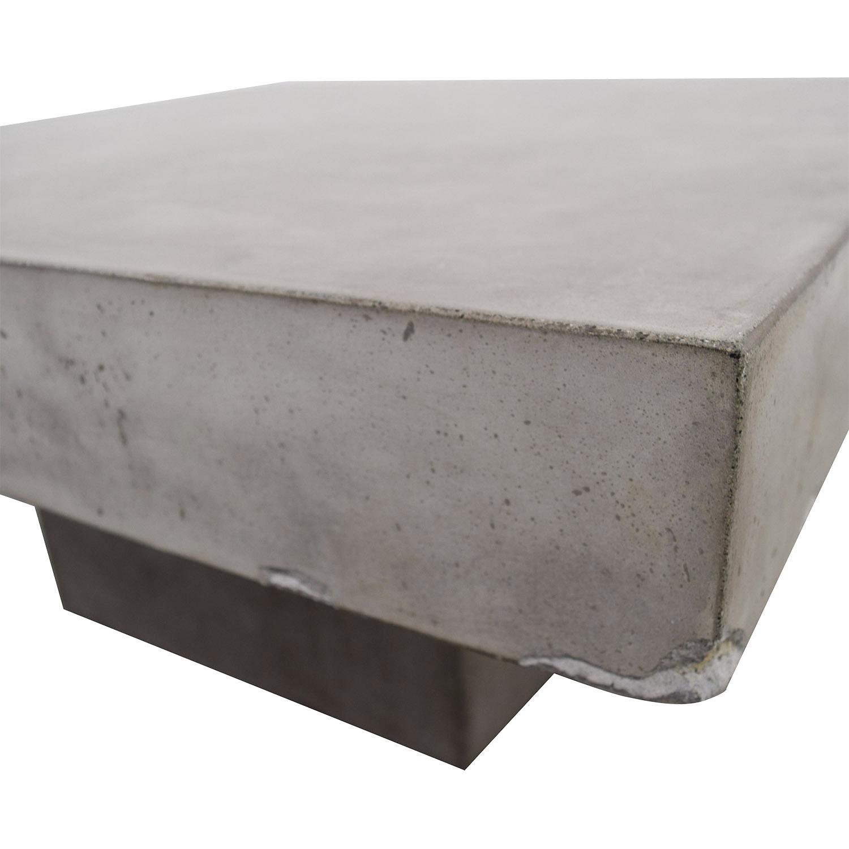43 Off Cb2 Cb2 Concrete Coffee Table Tables