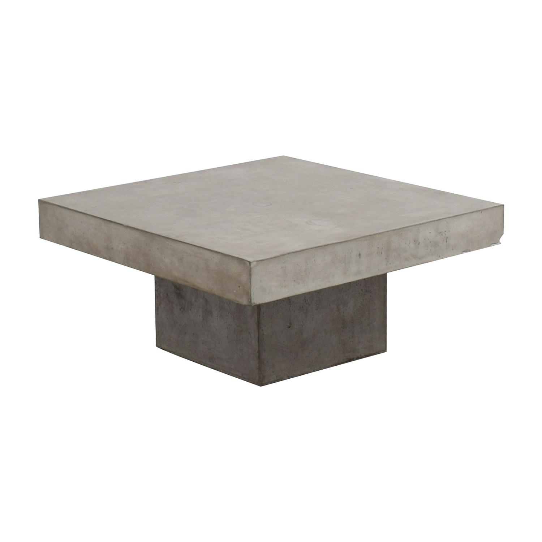 Ottoman Coffee Table Cb2: CB2 CB2 Concrete Coffee Table / Tables