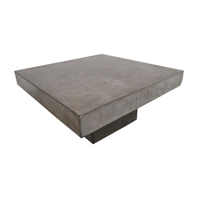 CB2 CB2 Concrete Coffee Table used