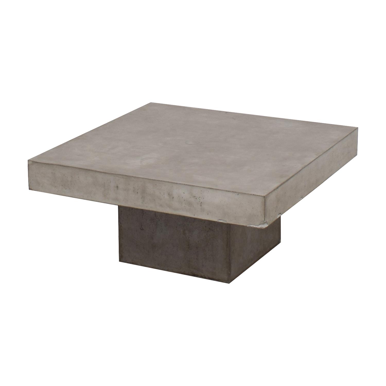 OFF CB CB Concrete Coffee Table Tables - Cb2 concrete table