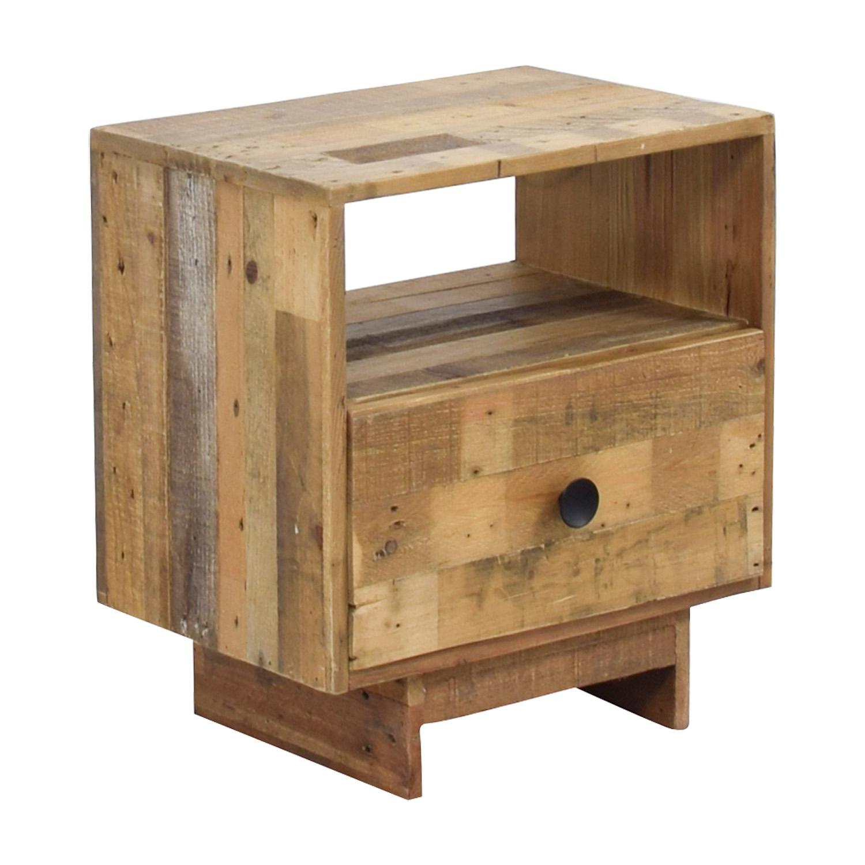 buy West Elm Emmerson Reclaimed Pine Nightstand West Elm Tables
