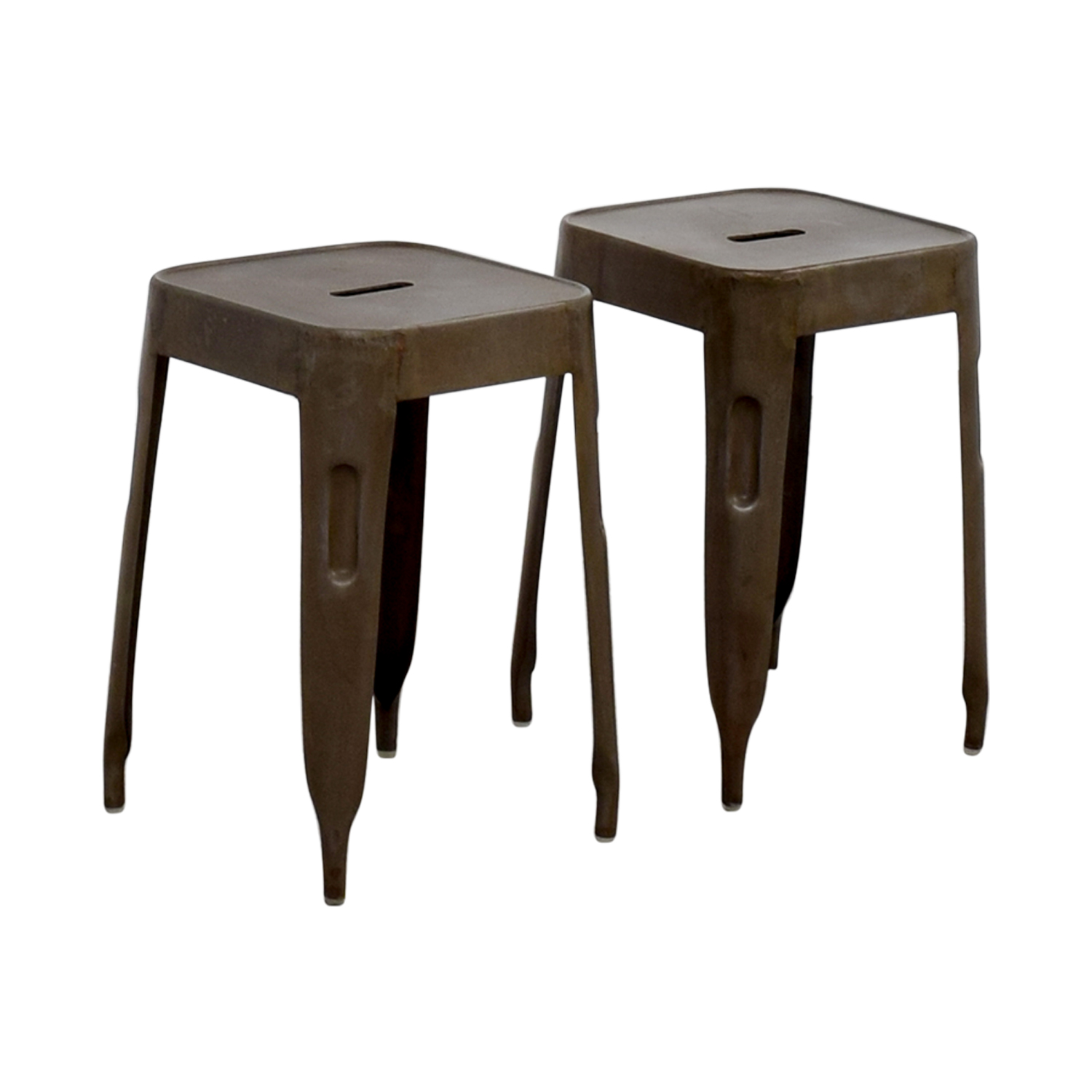 Industrial Brass Nickle Stools on sale