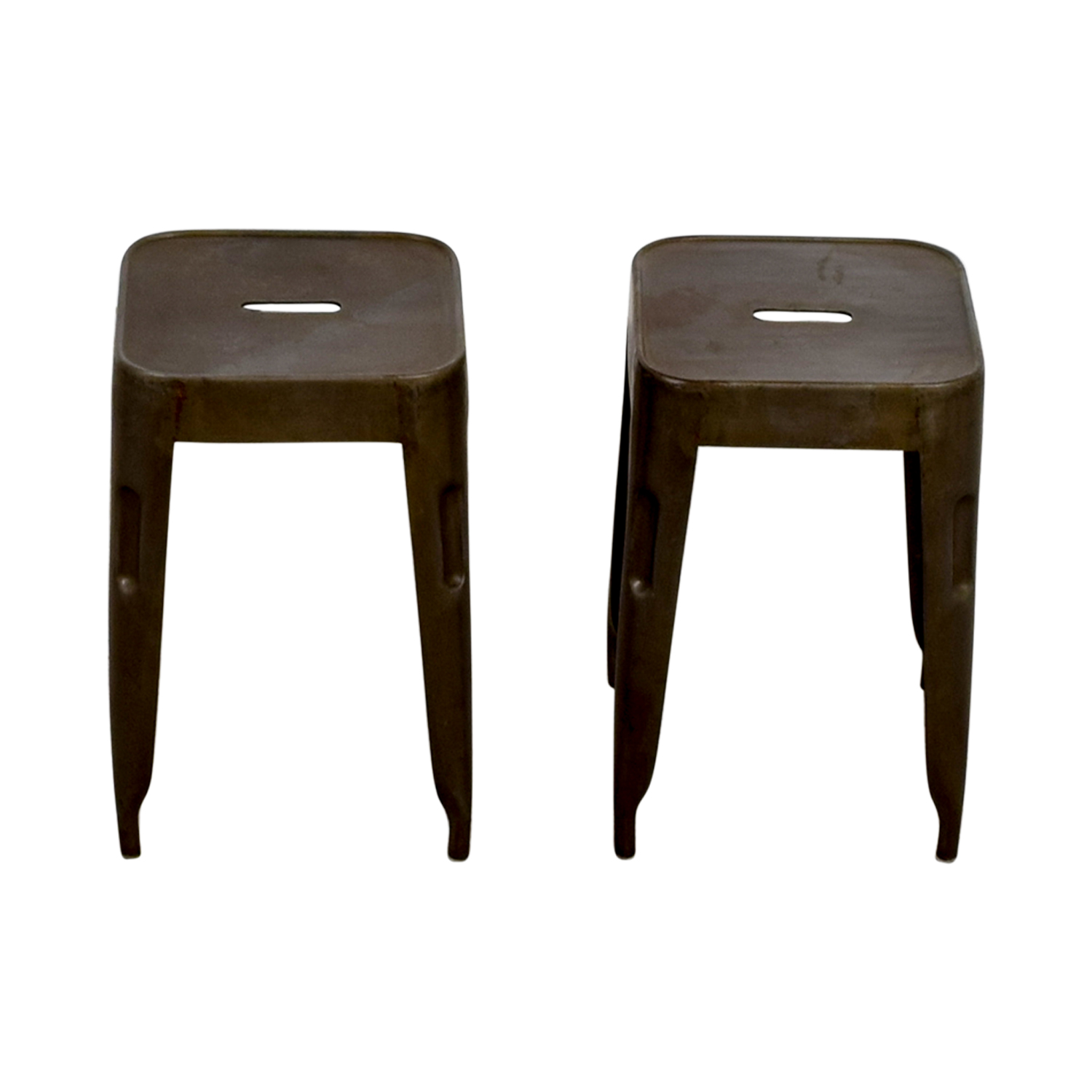 Industrial Brass Nickle Stools used