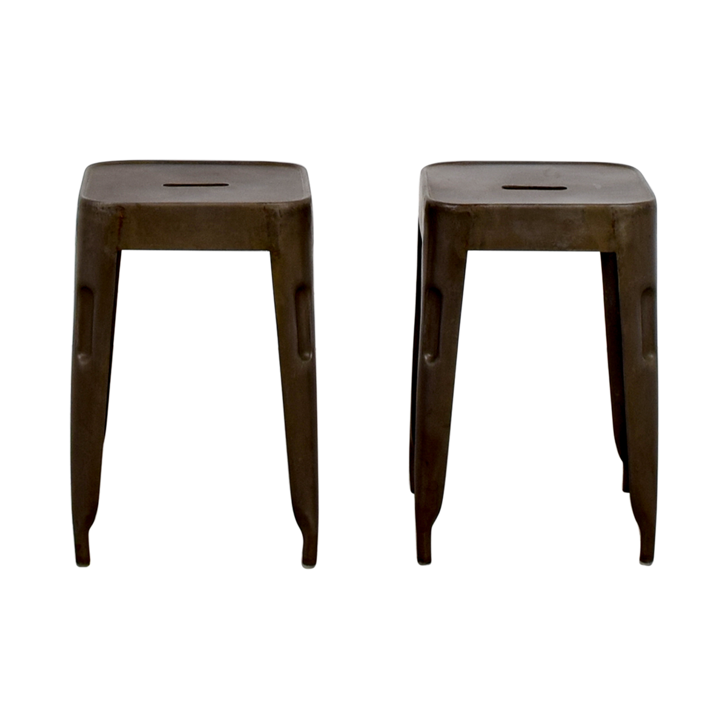 shop Industrial Brass Nickle Stools