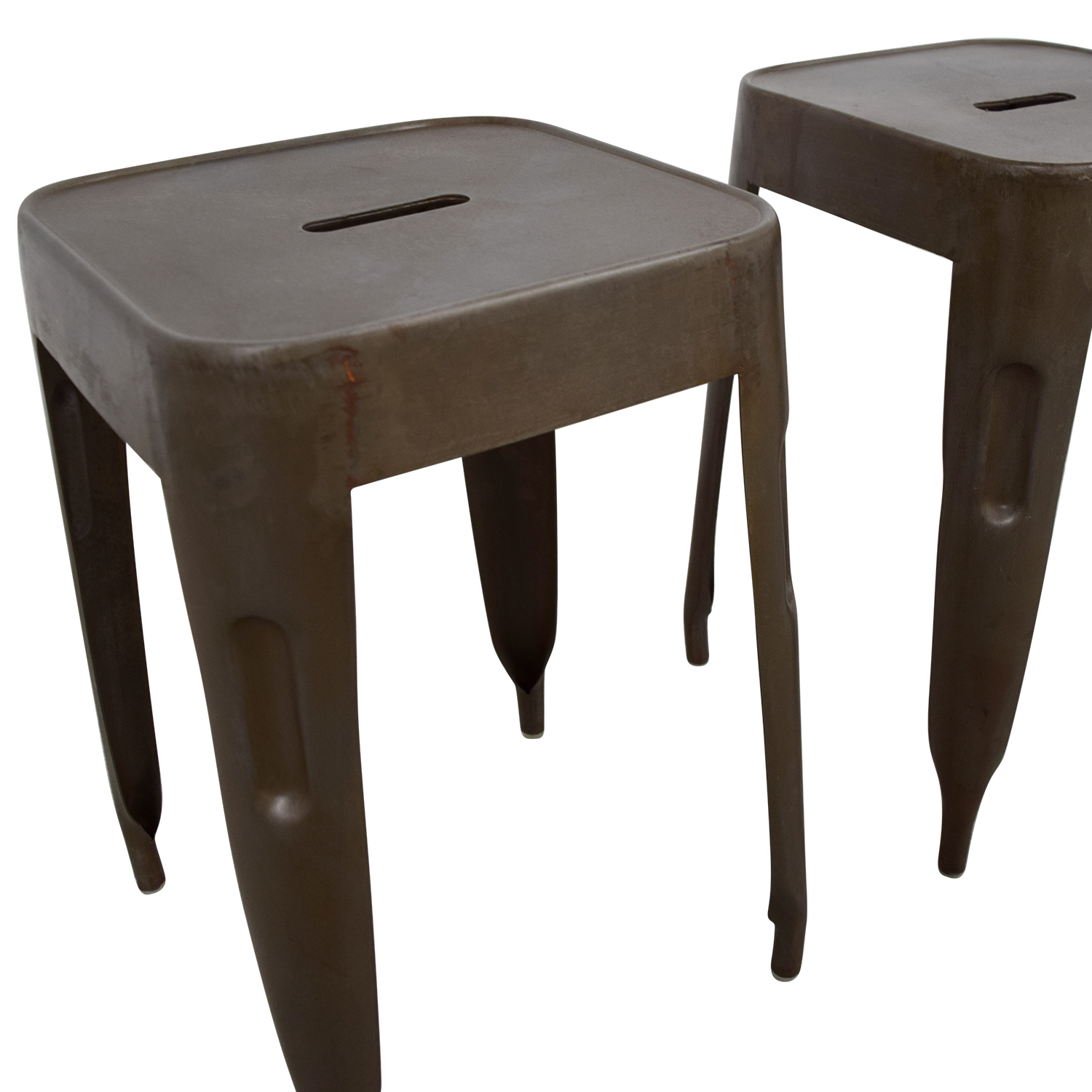 Industrial Brass Nickle Stools / Stools