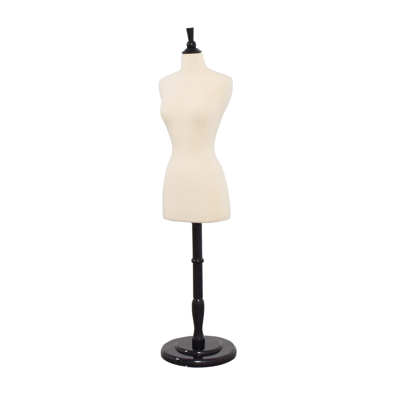 shop Dressform White and Black Mannequin Decorative Accents