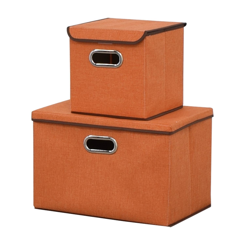 buy IBTHOUSE Storage Bins IBTHOUSE Decorative Accents