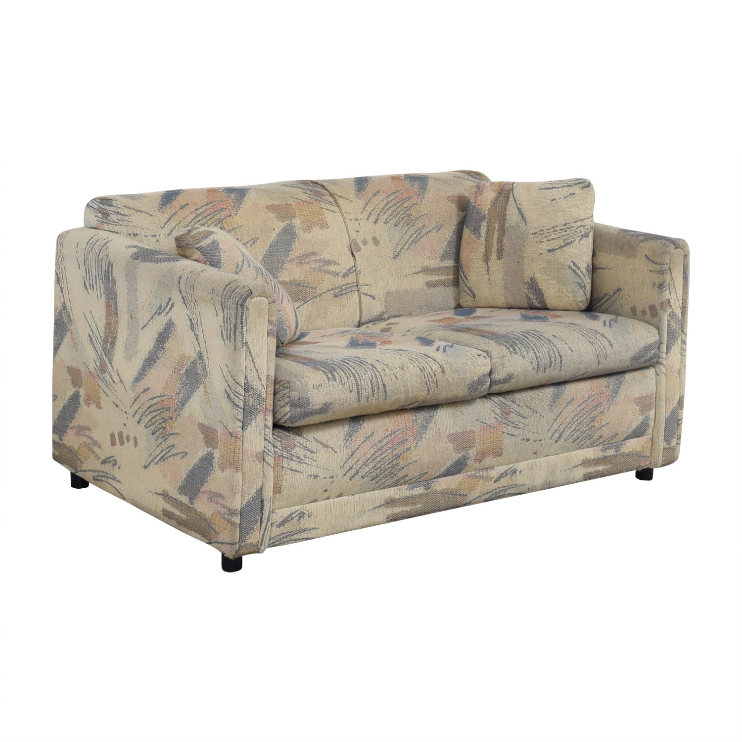 Raymour & Flanigan Raymour & Flanigan Multi-Colored Beige Loveseat dimensions