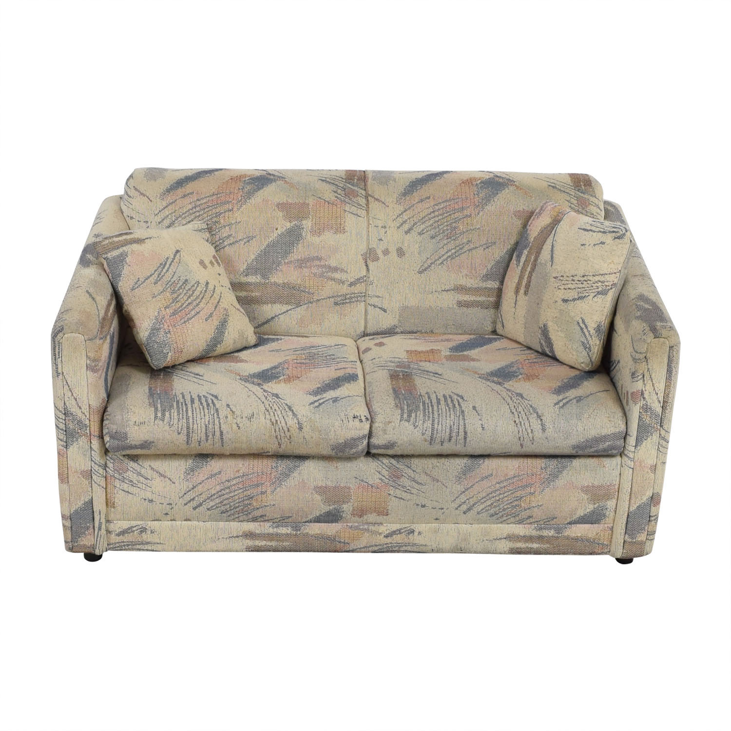 shop Raymour & Flanigan Multi-Colored Beige Loveseat Raymour & Flanigan Sofas