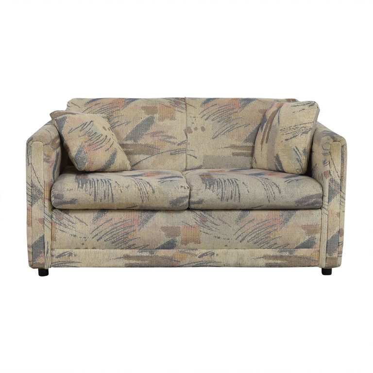 Raymour & Flanigan Raymour & Flanigan Multi-Colored Beige Loveseat coupon