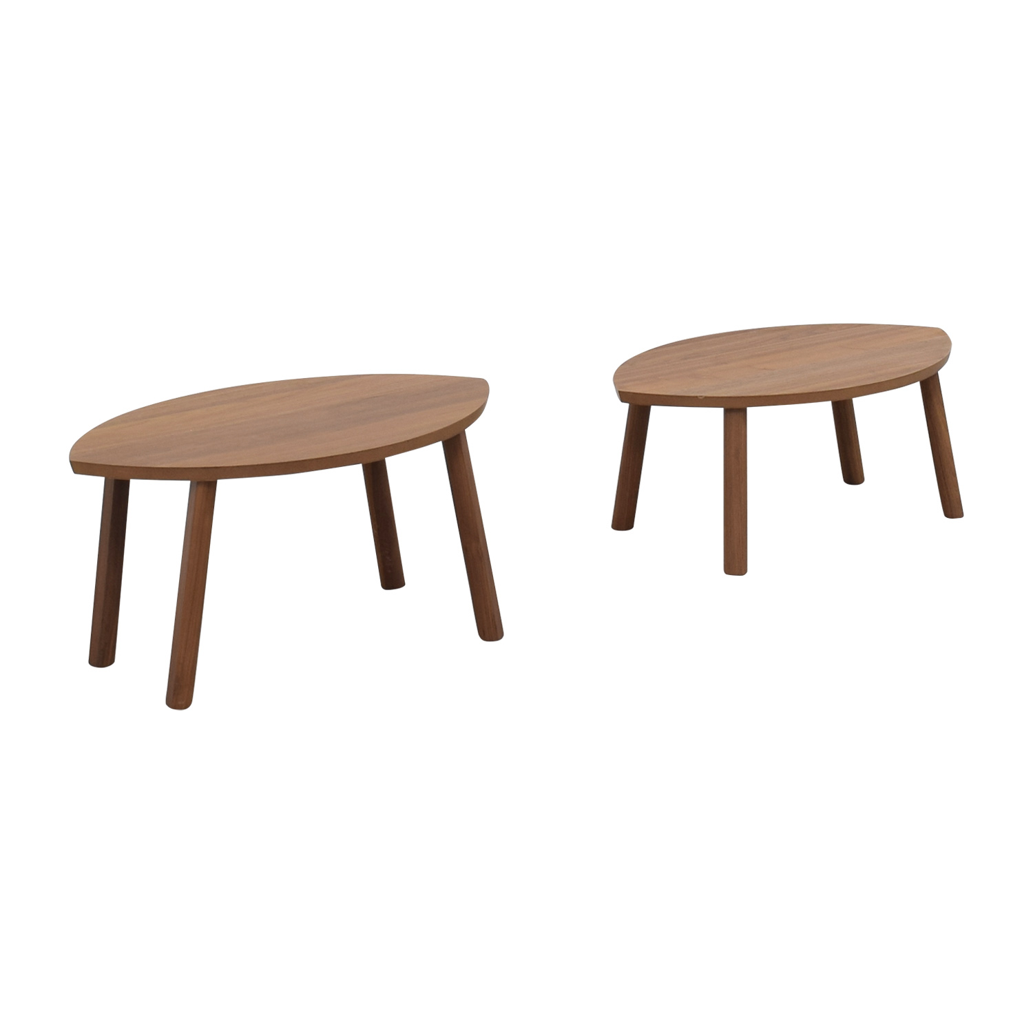 IKEA IKEA Stockholm Oval Nesting Wood End Tables used