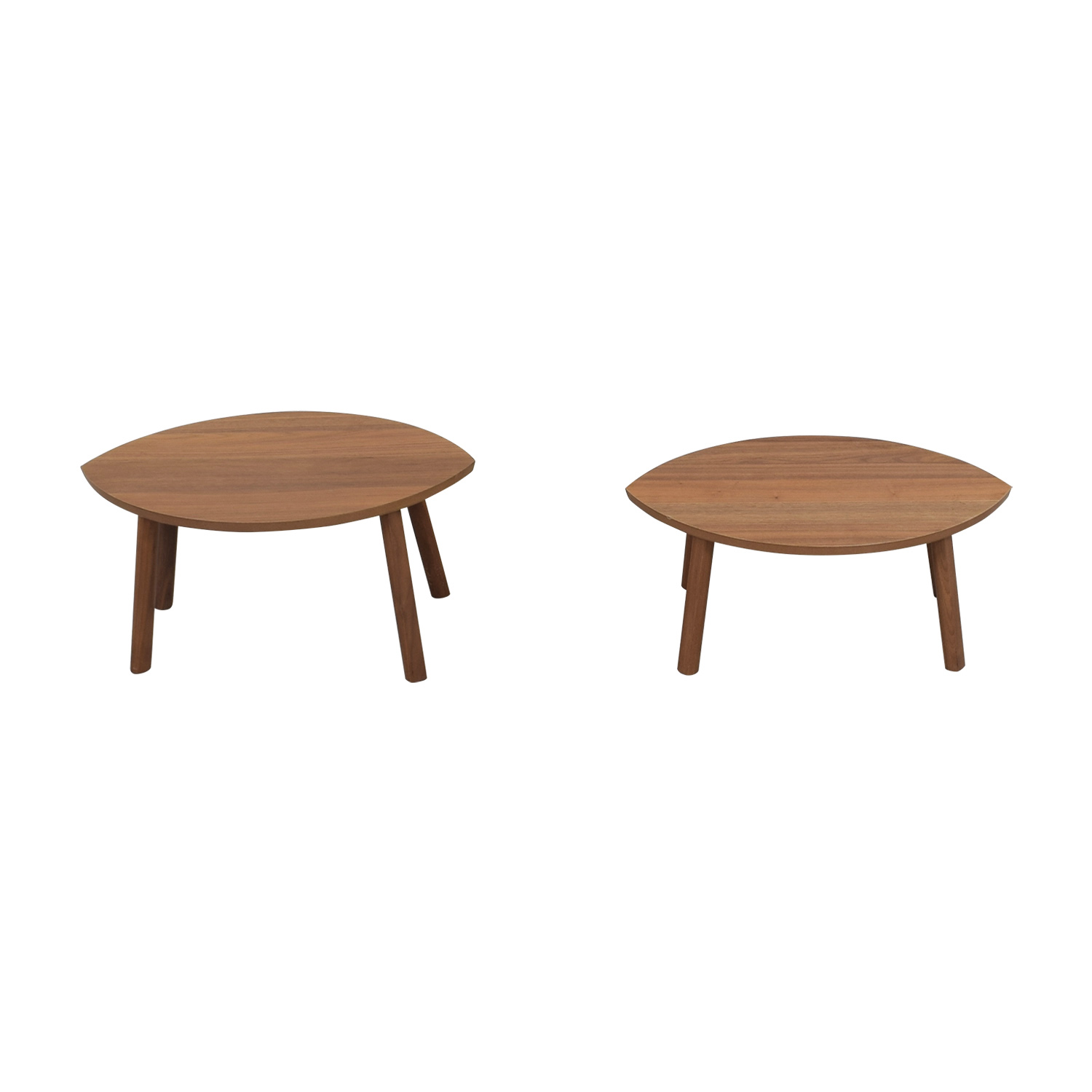 51% OFF IKEA IKEA Stockholm Oval Nesting Wood End Tables Tables