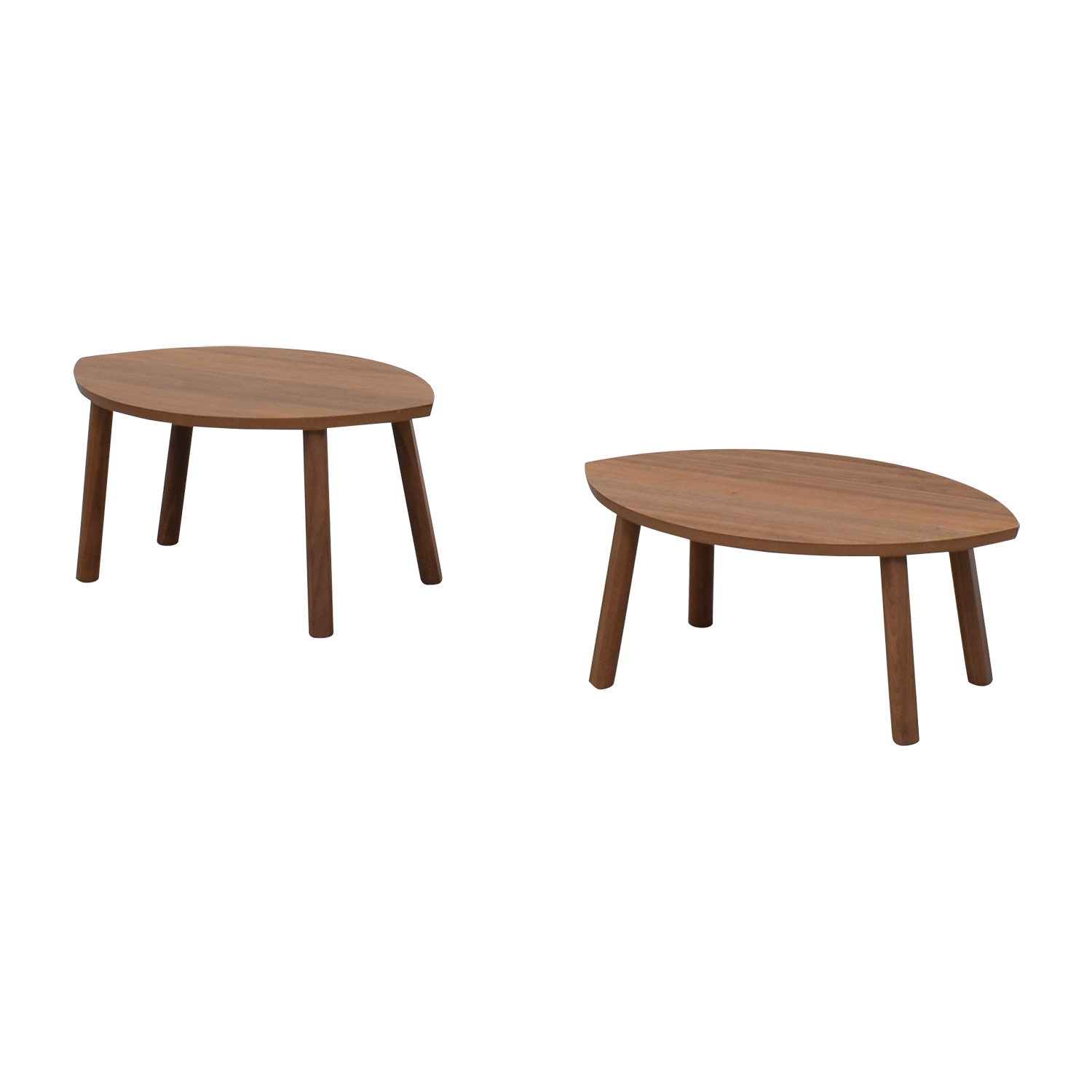 Oval Coffee Table Nest: IKEA IKEA Stockholm Oval Nesting Wood End Tables