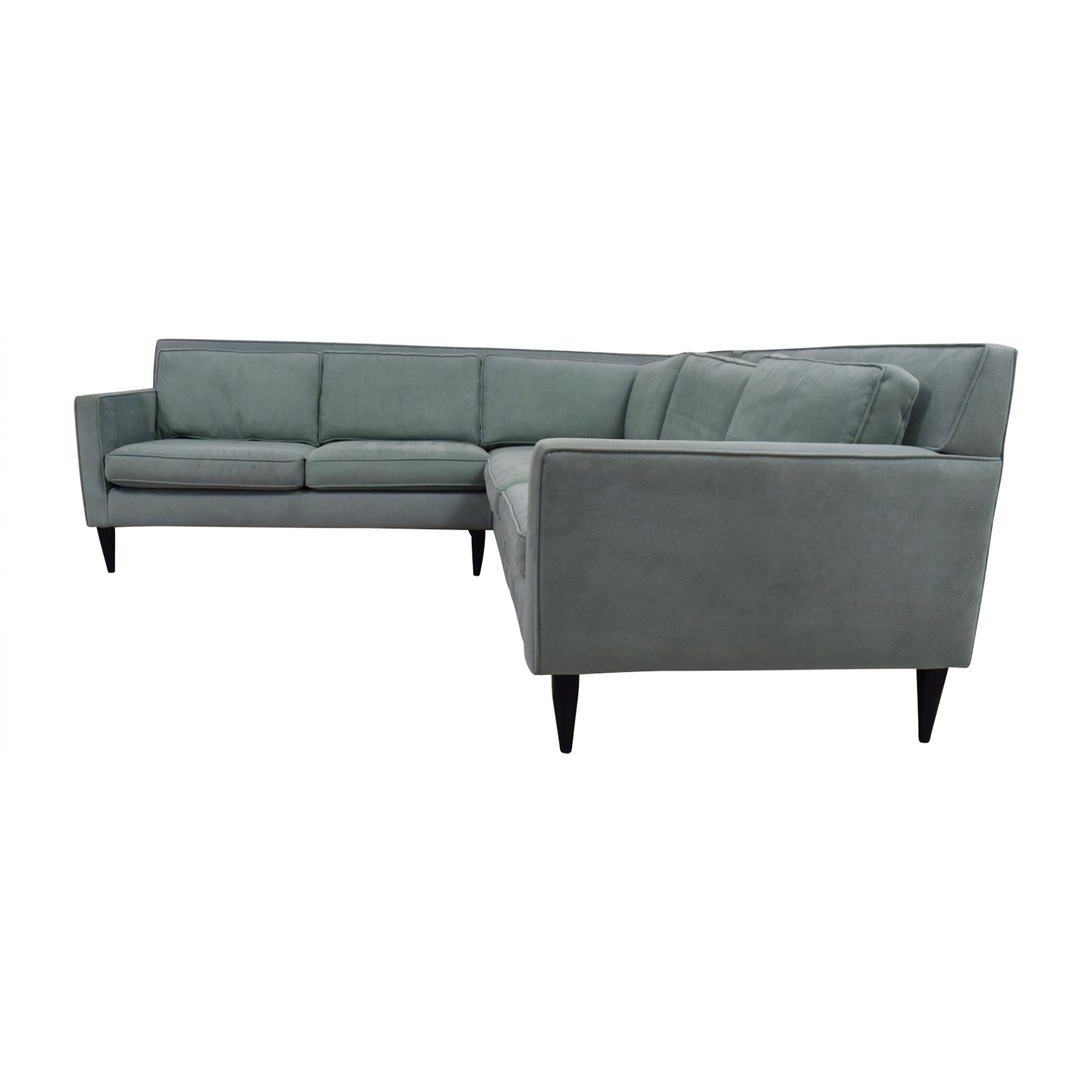 Crate & Barrel Rochelle Teal Sectional / Sectionals