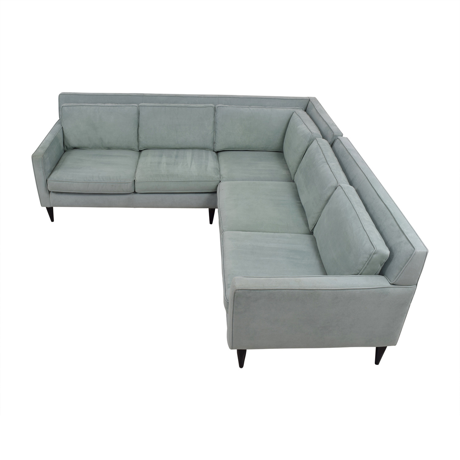 Crate & Barrel Crate & Barrel Rochelle Teal Sectional used