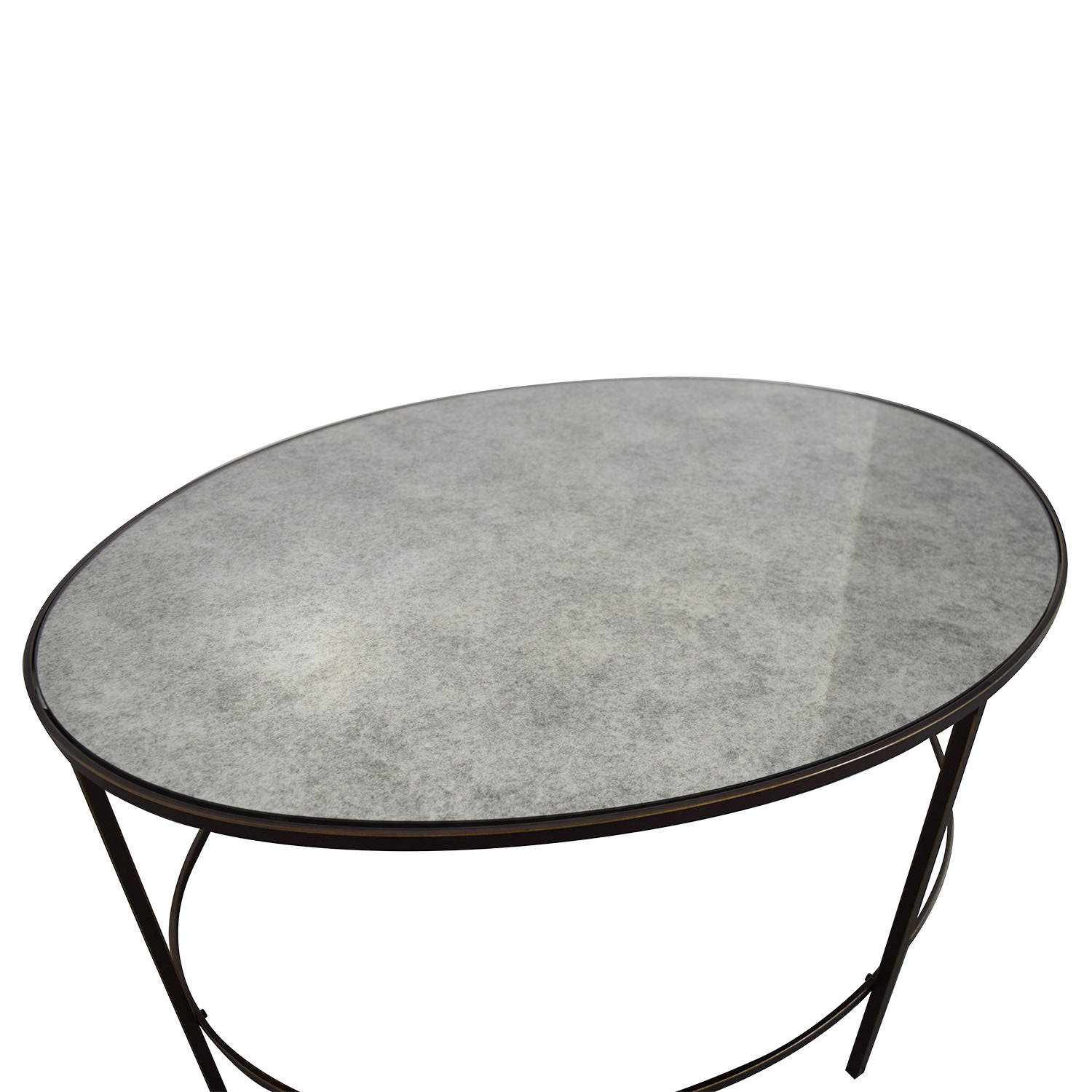 shop West Elm West Elm Oval Metal and Mirror Coffee Table online