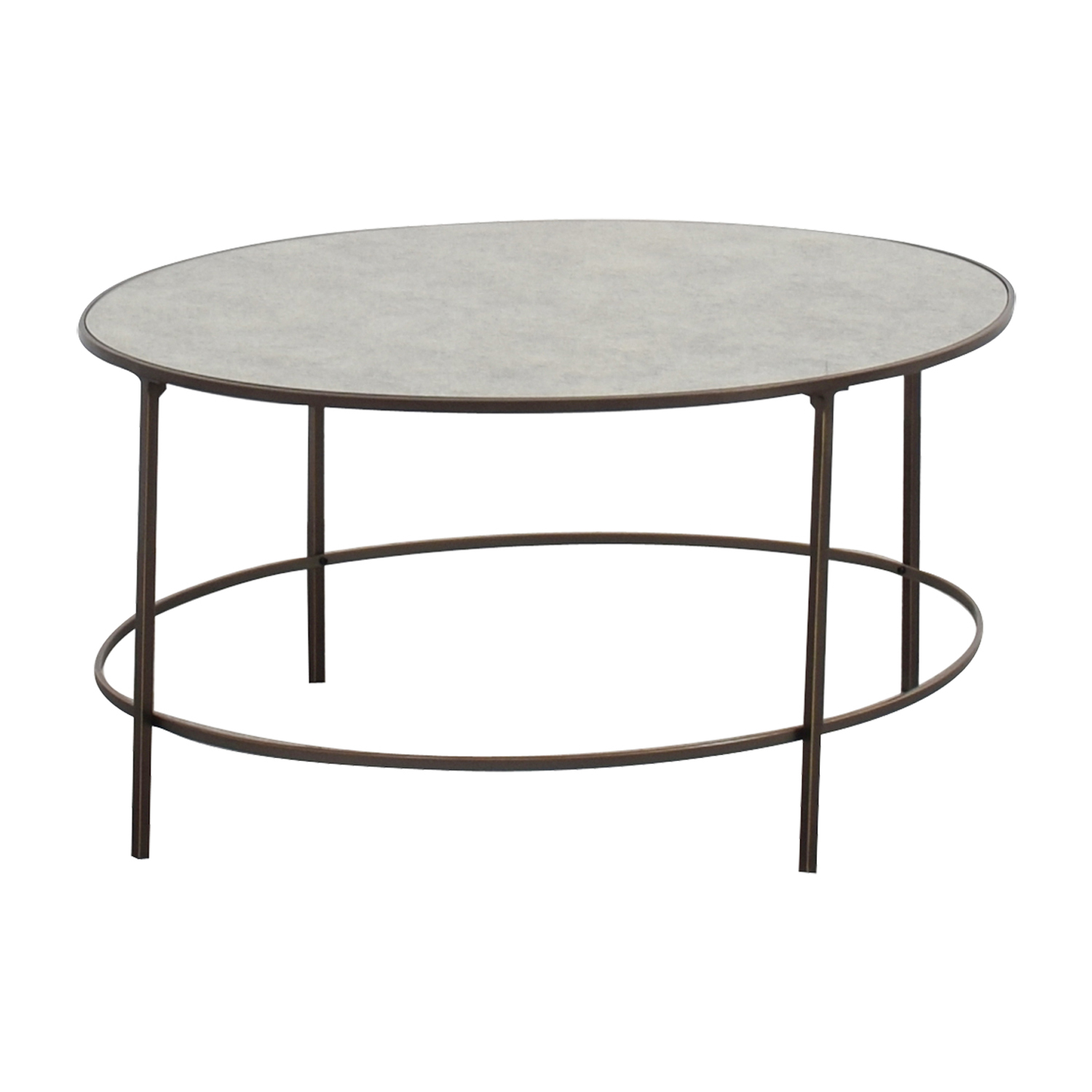 OFF West Elm West Elm Oval Metal and Mirror Coffee Table