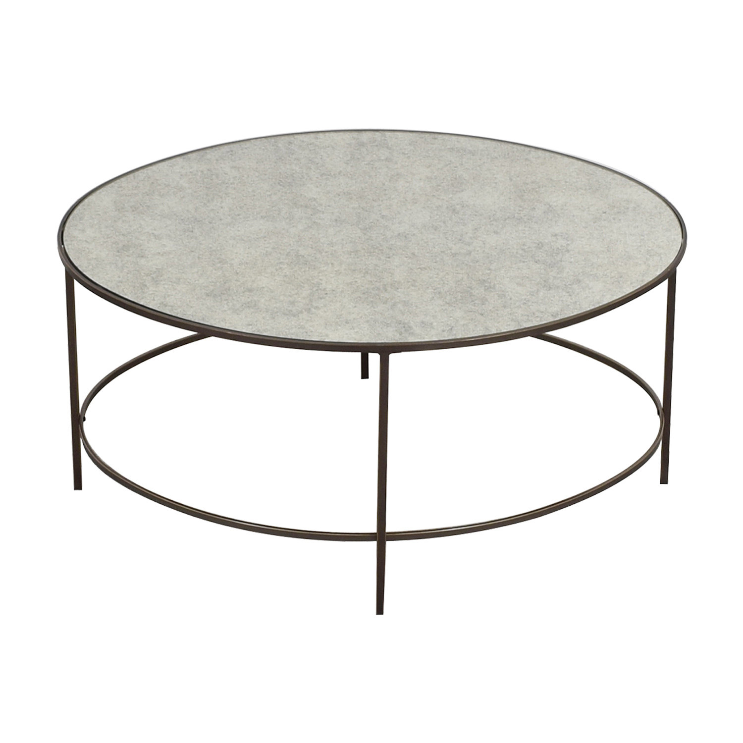 West Elm Oval Metal And Mirror Coffee Table Used