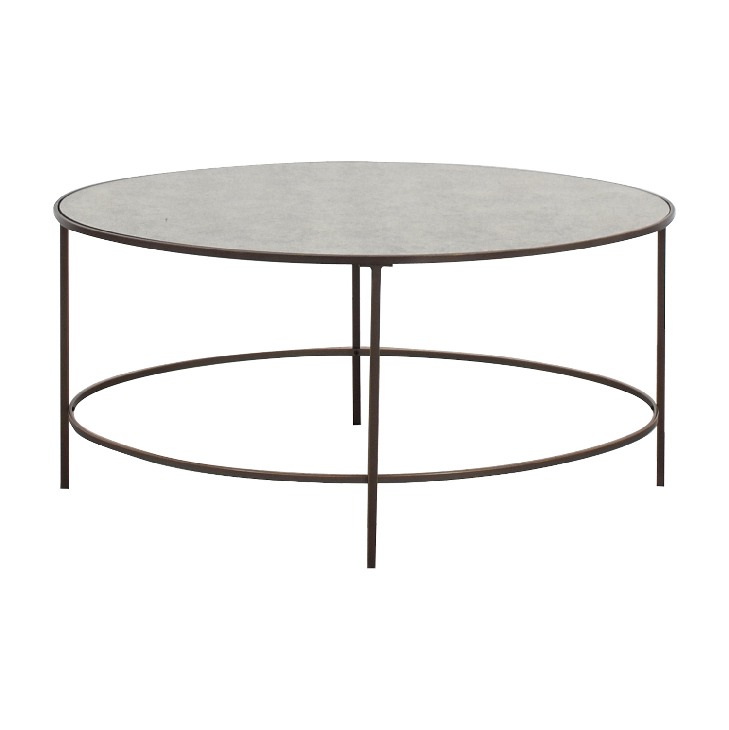 West Elm Oval Metal and Mirror Coffee Table West Elm