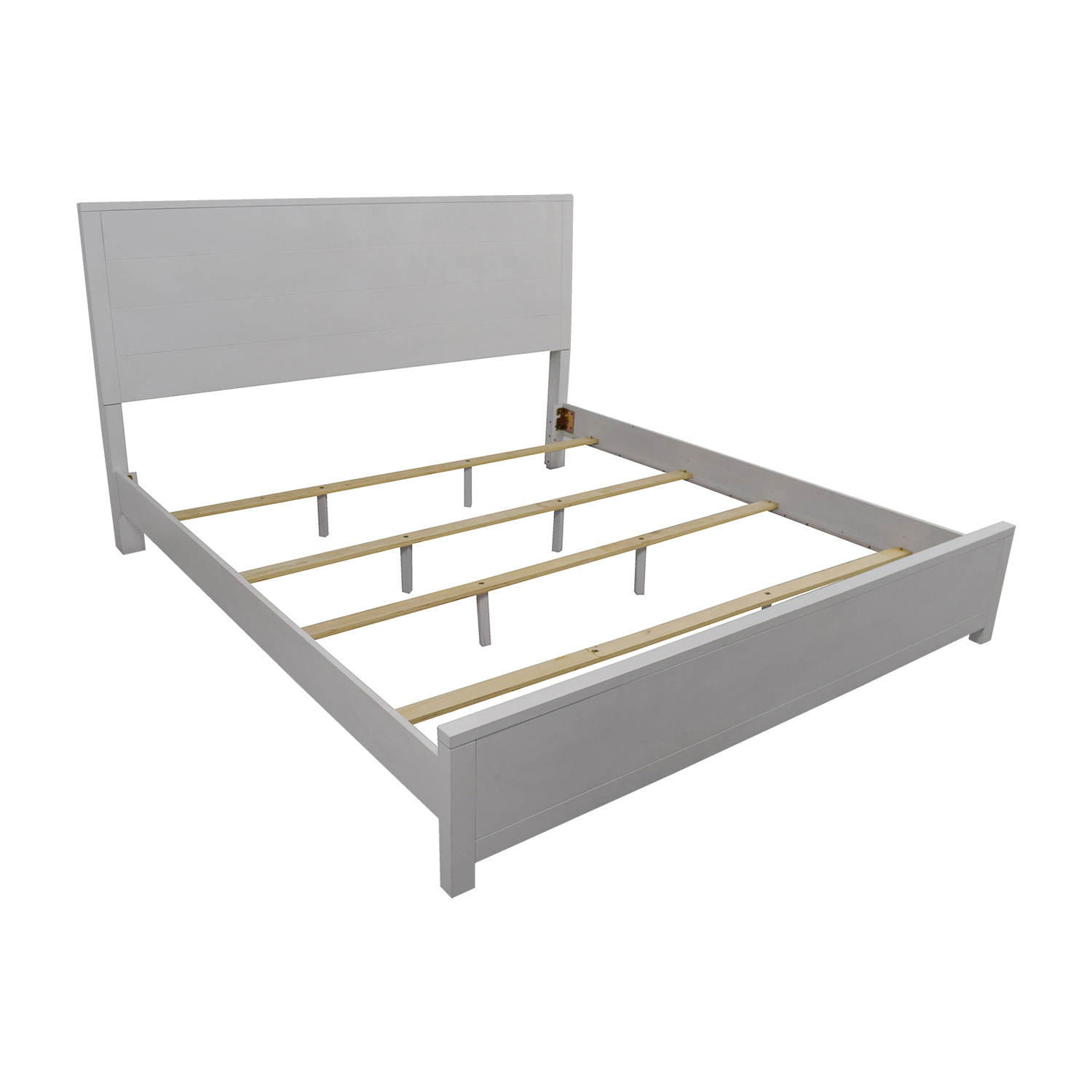 90 off macy s macy s white king bedframe beds 10236 | macys white king bedframe second hand
