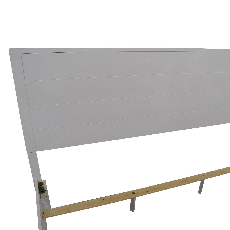 Macys White King Bedframe / Bed Frames